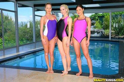 three girls-swimsuits